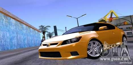 Scion Tc 2012 pour GTA San Andreas vue de dessus