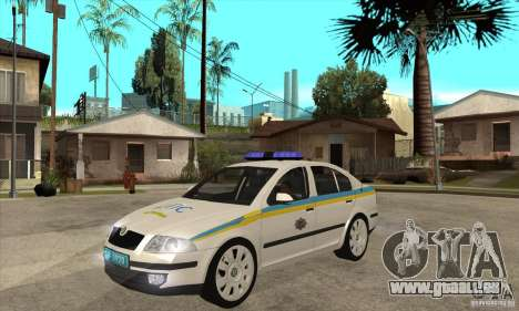 Skoda Octavia II ukrainien TRAFFIC POLICE pour GTA San Andreas