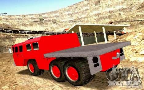 MAZ-7310 civile Version étroite pour GTA San Andreas vue intérieure