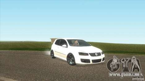 Volkswagen Golf für GTA San Andreas Rückansicht