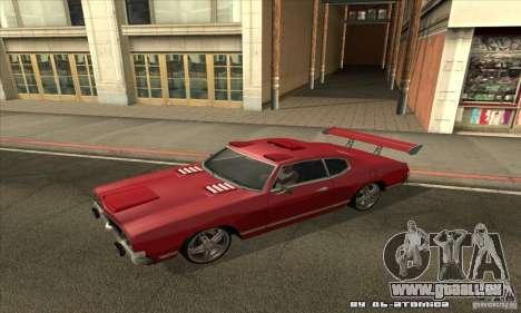 Sabre Drift pour GTA San Andreas laissé vue