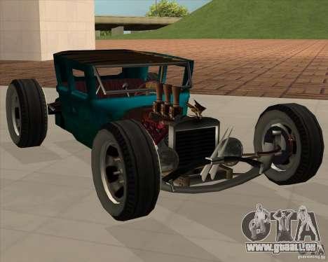 Ford model T 1925 ratrod für GTA San Andreas zurück linke Ansicht