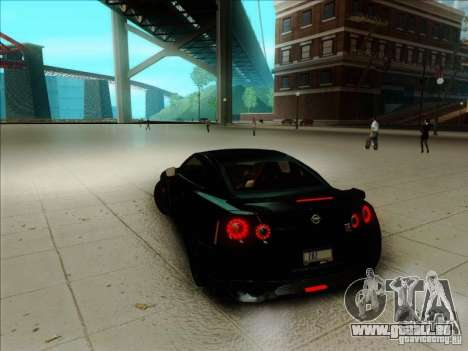 Nissan GTR Egoist 2011 pour GTA San Andreas laissé vue