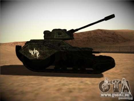 Tank aus dem Spiel TimeShift für GTA San Andreas zurück linke Ansicht