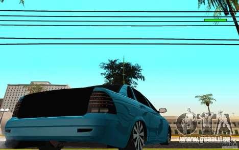 LADA 2170 Penza tuning pour GTA San Andreas sur la vue arrière gauche