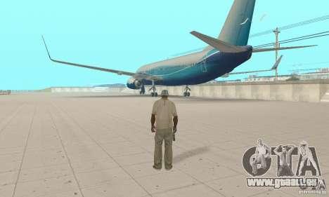 Boeing 737-800 pour GTA San Andreas laissé vue