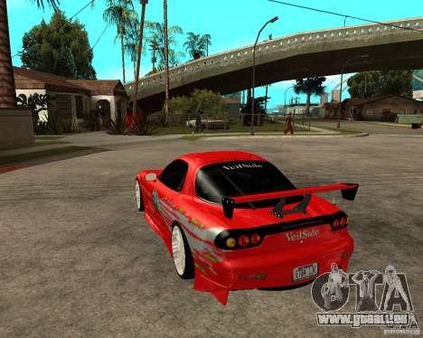 Mazda RX7 FnF für GTA San Andreas zurück linke Ansicht