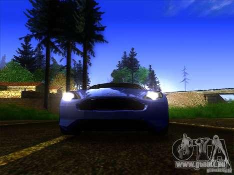 Aston Martin Virage 2011 Final für GTA San Andreas obere Ansicht
