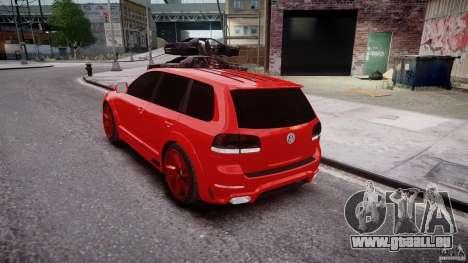 Volkswagen Touareg R50 2008 Tune (Beta) für GTA 4 Seitenansicht