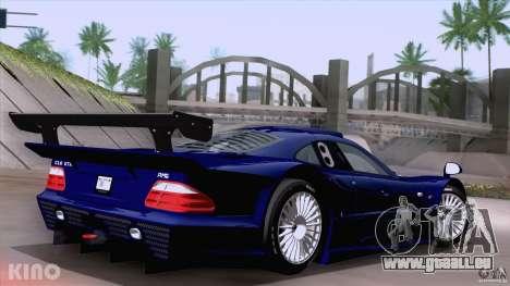 Mercedes-Benz CLK GTR Road Carbon Spoiler pour GTA San Andreas laissé vue