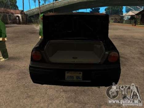 Chevrolet Impala Undercover pour GTA San Andreas vue arrière