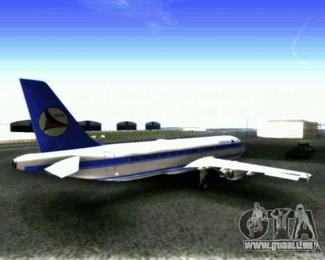 Airbus A-320 Azerbaijan Airlines pour GTA San Andreas vue de droite