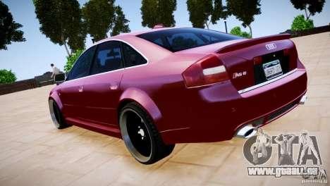 Audi RS6 pour GTA 4 est une vue de l'intérieur