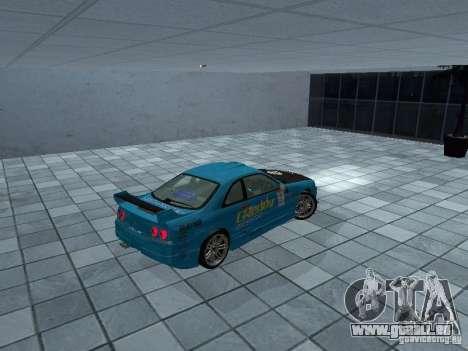 Nissan Skyline R 33 GT-R für GTA San Andreas zurück linke Ansicht