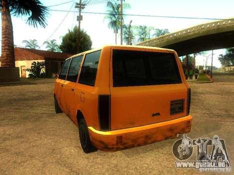 Taxi Moonbeam pour GTA San Andreas sur la vue arrière gauche