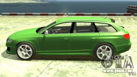 Audi RS6 Avant 2010 Stock für GTA 4 linke Ansicht