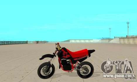 DT 180 Motard für GTA San Andreas zurück linke Ansicht