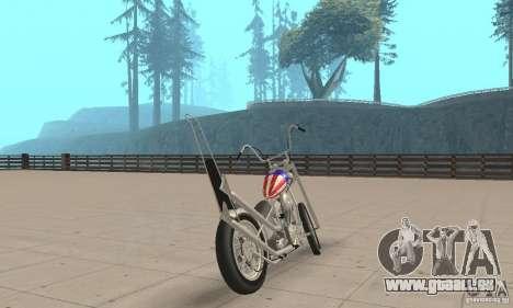 Captain America Chopper für GTA San Andreas linke Ansicht