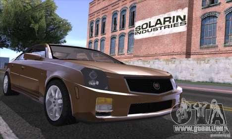 Cadillac CTS-V pour GTA San Andreas vue intérieure