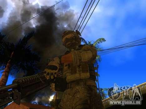 La mitrailleuse M60E4 pour GTA San Andreas deuxième écran