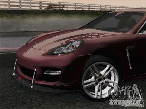 Porsche Panamera Turbo 2010 pour GTA San Andreas moteur