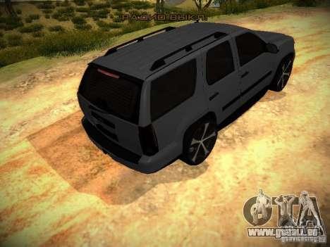 Chevrolet Tahoe HD Rimz pour GTA San Andreas vue arrière