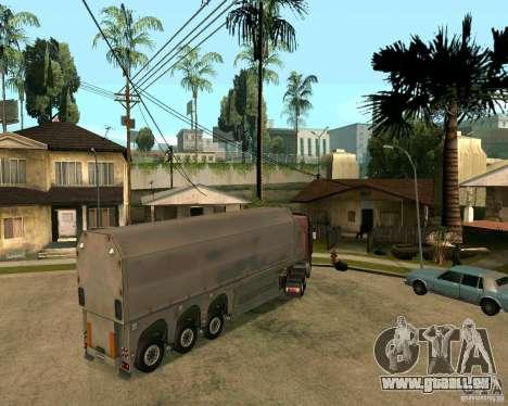 Remorque Steklovoz pour GTA San Andreas laissé vue