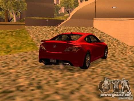 Hyundai Genesis Coupé 3.8 piste v1.0 pour GTA San Andreas laissé vue