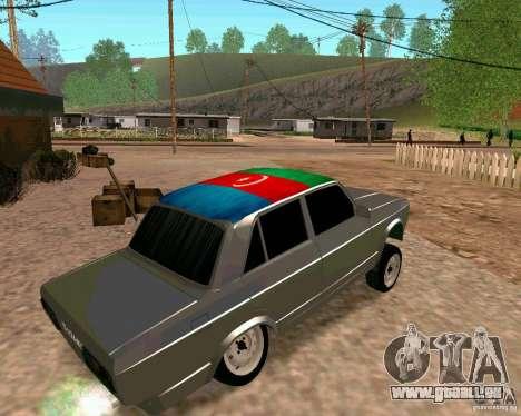 VAZ 2107 complet pour GTA San Andreas laissé vue