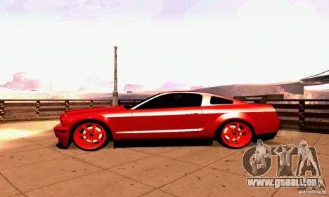 Shelby GT500 KR pour GTA San Andreas vue intérieure