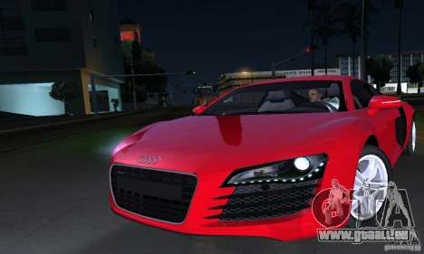 Audi R8 4.2 FSI pour GTA San Andreas vue de côté