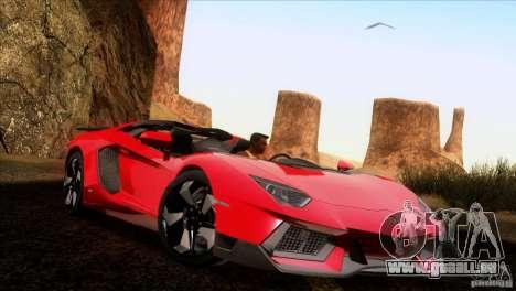 Lamborghini Aventador LP-700 J pour GTA San Andreas vue arrière