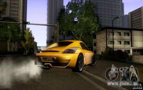 Ruf RK Coupe V1.0 2006 pour GTA San Andreas vue intérieure