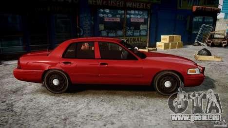 Ford Crown Victoria Detective v4.7 red lights für GTA 4 Rückansicht
