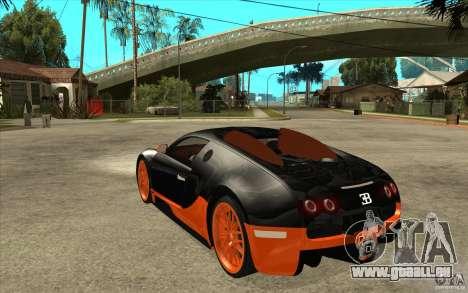 Bugatti Veyron Super Sport 2011 für GTA San Andreas linke Ansicht