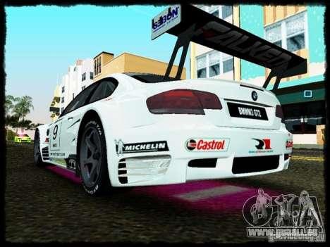 BMW M3 GT2 pour une vue GTA Vice City de la droite