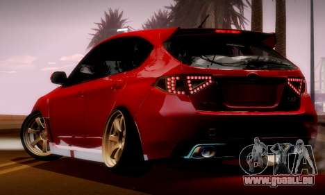 Subaru Impreza WRX Camber pour GTA San Andreas vue intérieure