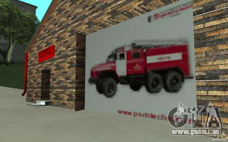 Russische Feuerwache in San Fierro für GTA San Andreas dritten Screenshot