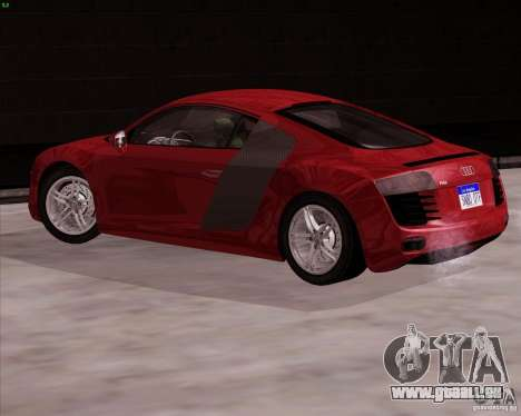 Audi R8 Production für GTA San Andreas linke Ansicht