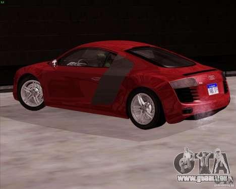 Audi R8 Production für GTA San Andreas linke Ansicht