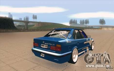 BMW E34 V8 pour GTA San Andreas vue de côté