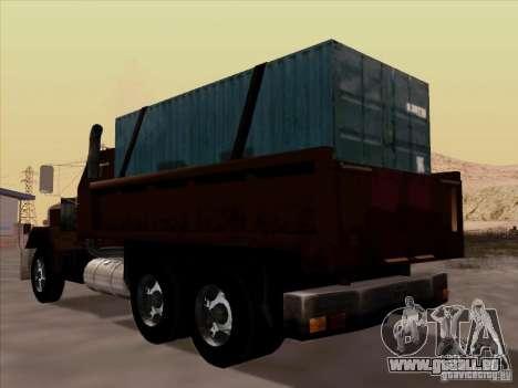 New Flatbed pour GTA San Andreas vue arrière