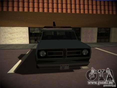 Camion de remorquage Sadler pour GTA San Andreas vue de droite