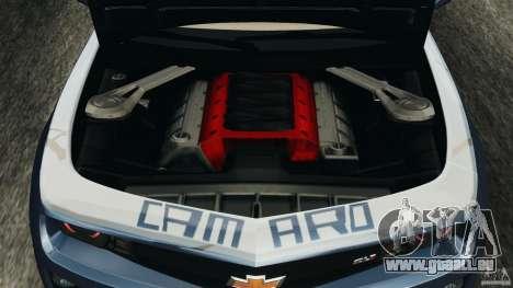 Chevrolet Camaro ZL1 2012 v1.0 Smoke Stripe für GTA 4 obere Ansicht