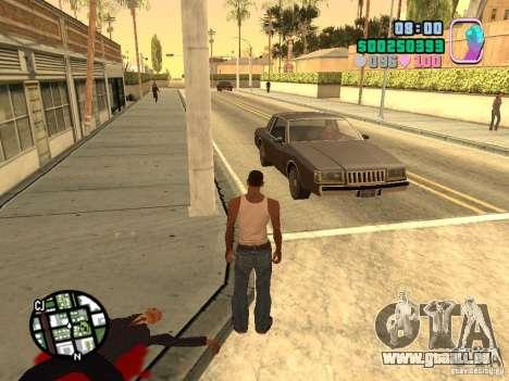 Vice City Hud für GTA San Andreas dritten Screenshot