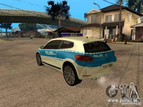 Volkswagen Scirocco German Police pour GTA San Andreas laissé vue