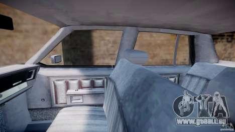 Chevrolet Impala 1983 [Final] pour GTA 4 est une vue de l'intérieur