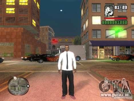 Chemise avec cravate pour GTA San Andreas deuxième écran