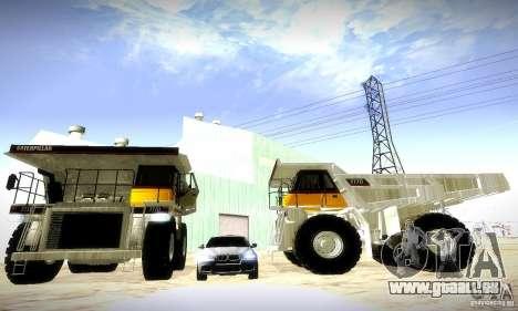 Caterpillar 777D pour GTA San Andreas laissé vue