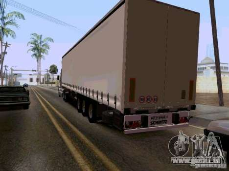 Kenworth T2000 v.2 für GTA San Andreas Rückansicht